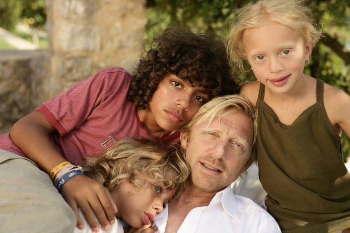 Boris Becker mit Kindern