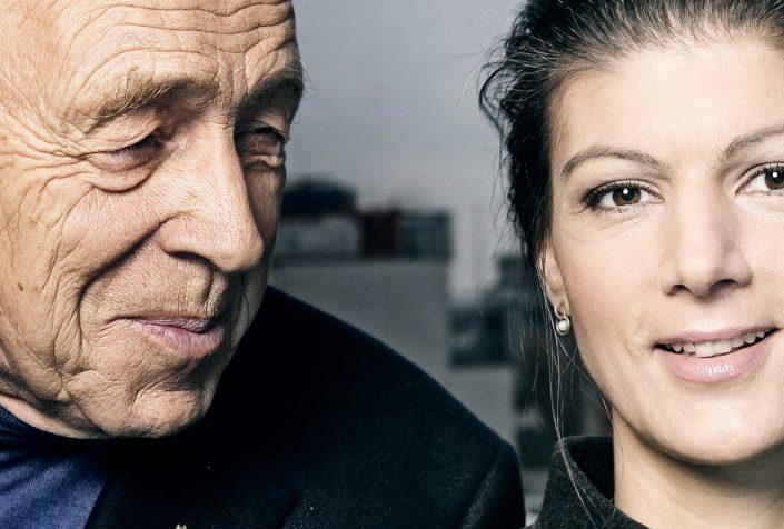 Heiner Geissler und Sahra Wagenknecht