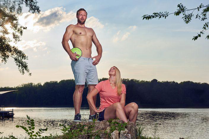 Robert Harting und Julia Fischer, Olympiasieger und Weltmeister