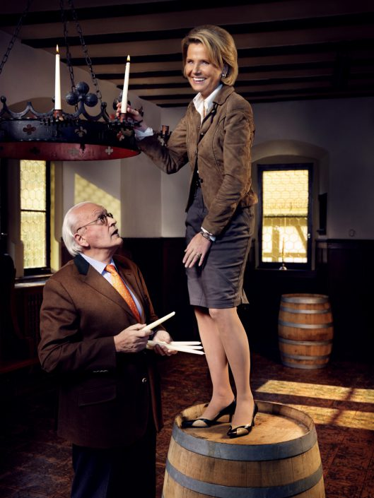 Roman Herzog mit Frau, Alt-Bundespräsident
