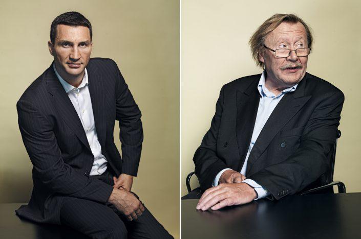 Wladimir Klitschko und Peter Sloterdijk