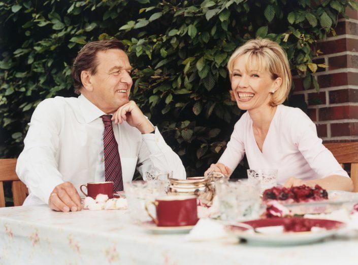 Gerhard Schröder mit Doris Schröder-Köpf