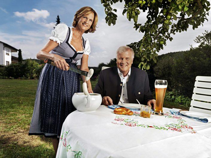 Karin und Horst Seehofer, Ministerpräsident