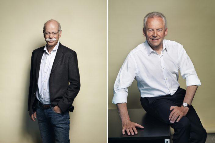 Dieter Zetsche, CEO Daimler AG und Rüdiger Grube, CEO Deutsche Bahn AG,